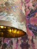 Lampshade - HOLOGRAPHIC UNIVERSE DRUM SHADE : COPPER