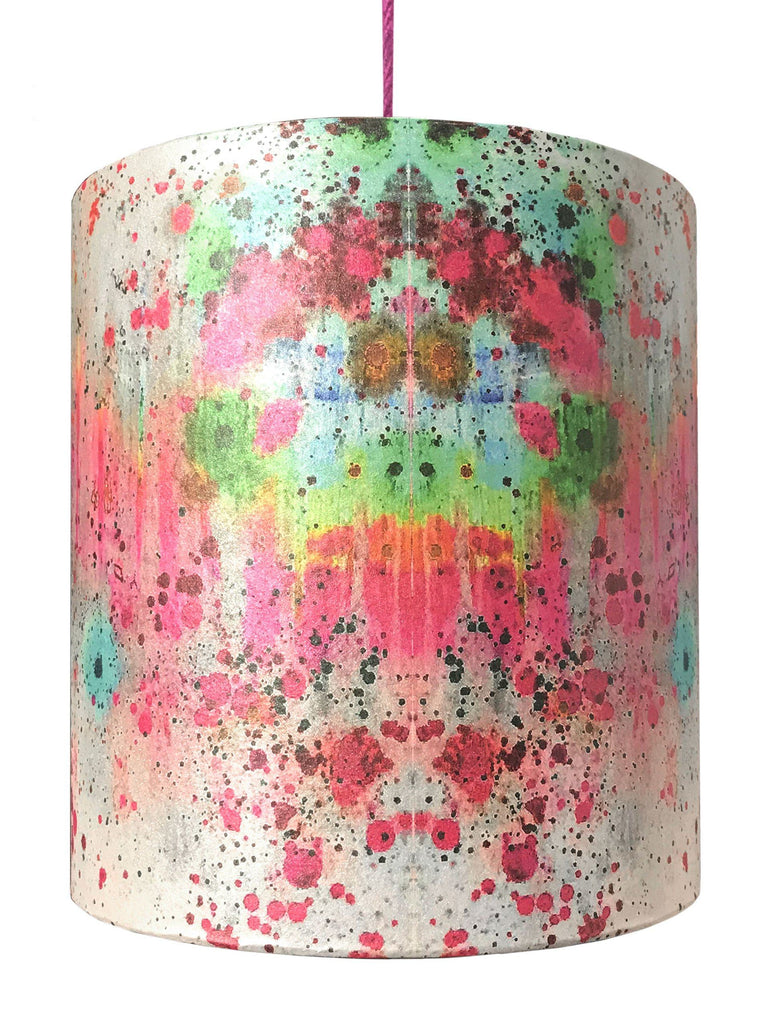 Lampshade - SONYA ROTHWELL RAINBOW NAGA DRUM SHADE : HOT PINK