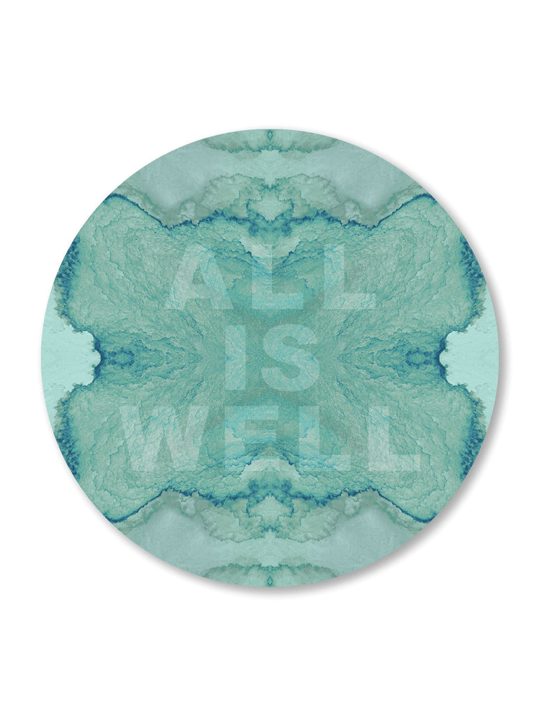 Print - ALL IS WELL : ROUND WALL ART