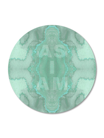 AS I AM : ROUND WALL ART