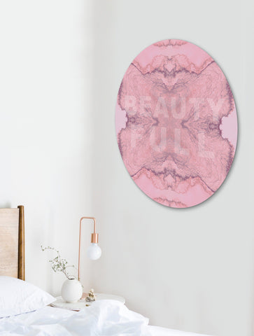 BEAUTY FULL : ROUND WALL ART