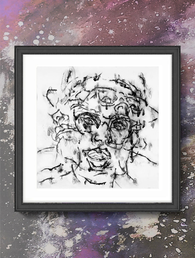 Print - CRAZY DIAMOND JVI03 : WALL ART