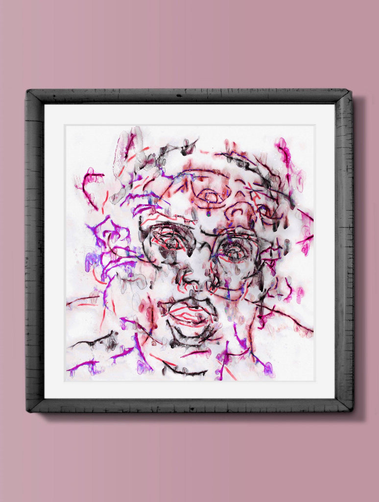 Print - CRAZY DIAMOND JVI07 : WALL ART