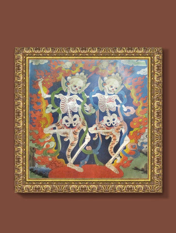 DANCING SKELETONS : WALL ART