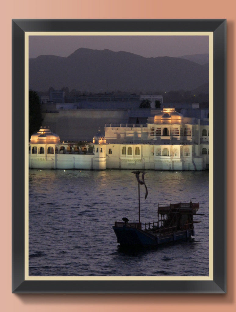 Print - FLOATING PALACE UDAIPUR : WALL ART