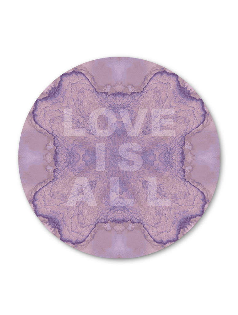 Print - LOVE IS ALL : ROUND WALL ART
