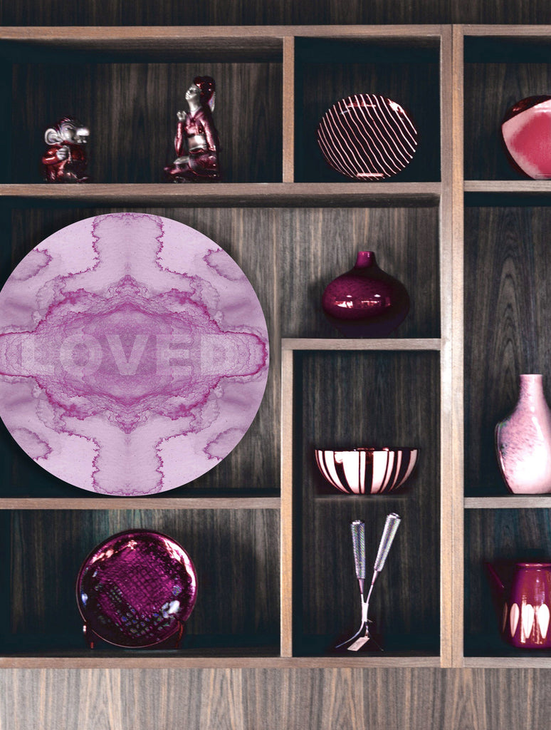 Print - LOVED : ROUND WALL ART