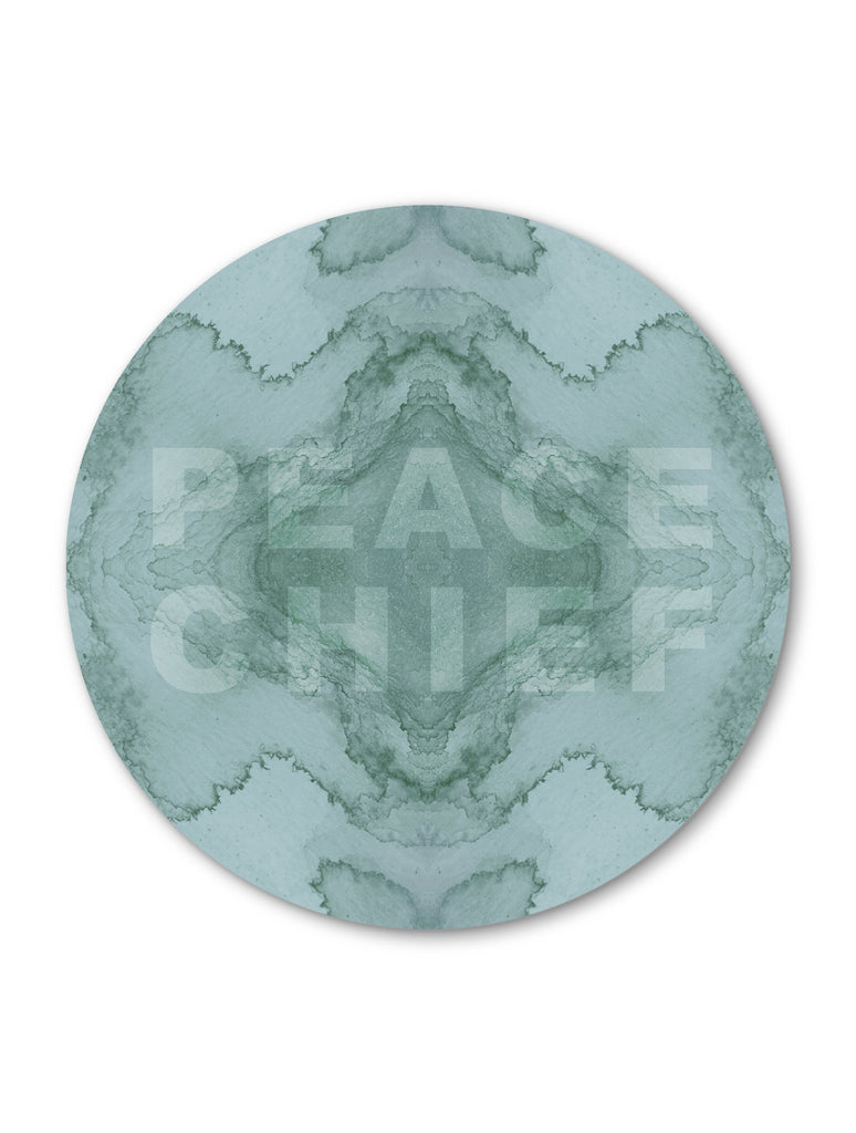 Print - PEACE CHIEF : ROUND WALL ART