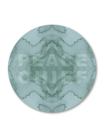 PEACE CHIEF : ROUND WALL ART