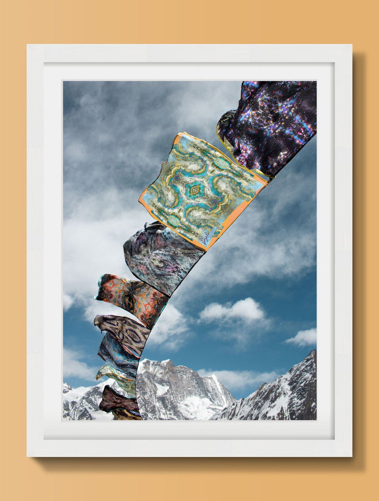 Print - PRAYER FLAGS I : WALL ART
