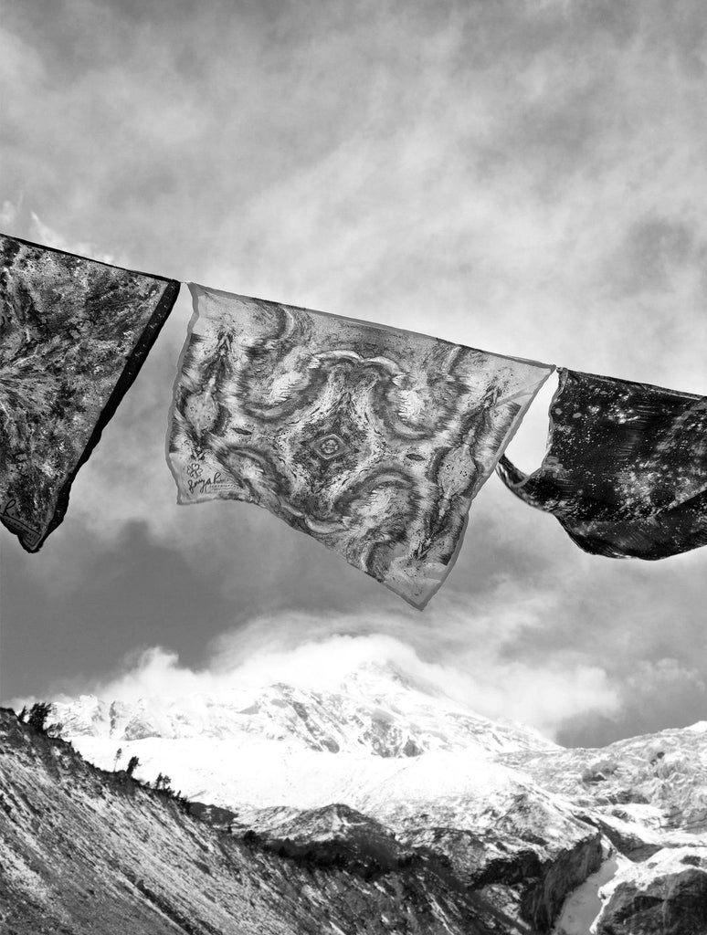 Print - PRAYER FLAGS II : WALL ART