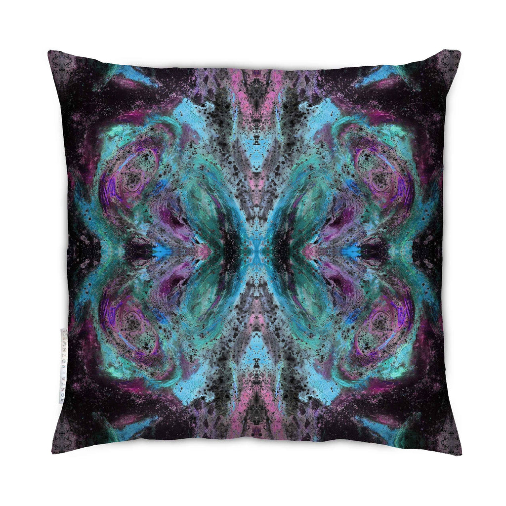 Sample - SAMPLE : INDOOR BUTTERFLY EFFECT CUSHION : VIOLET NOIR : PAIR 55cmsq + 95cmsq