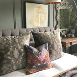 Sample - SAMPLE : INDOOR INTERSECTION CUSHION : RUST NOIR : SMOOTH VELVET 55cmsq