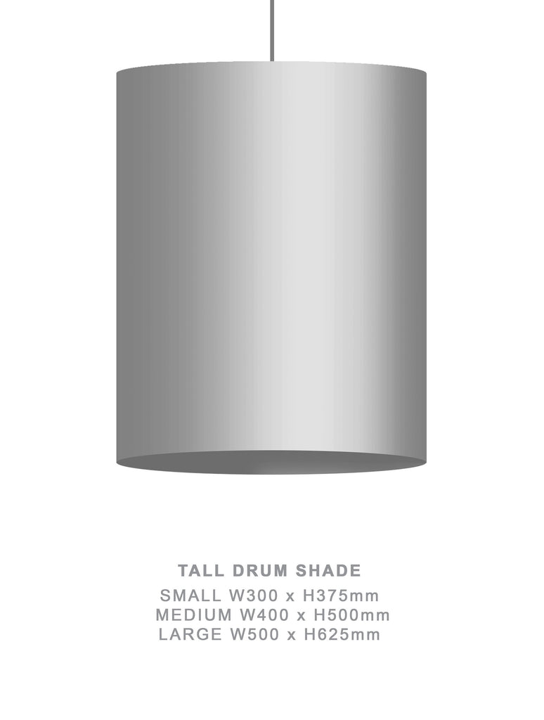 Sample - SAMPLE : ZERO POINT DRUM SHADE : HEAVEN ON EARTH : PAIR W400xH500mm