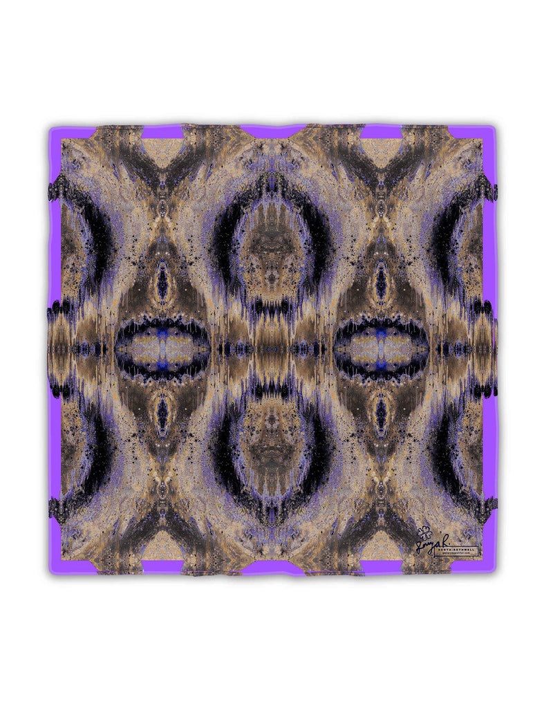 Silk Scarf - SAMPLE : SONYA ROTHWELL OCTAHEDRON SILK SCARF : PURPLE