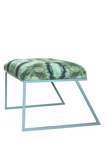 IRIDESCENT LIGHTENING STOOL : INFIINIITY BLUE SAGE VELVET