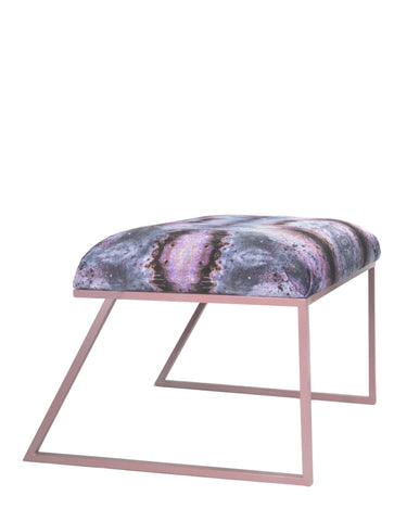 IRIDESCENT LIGHTENING STOOL : INFIINIITY DARK OPAL VELVET