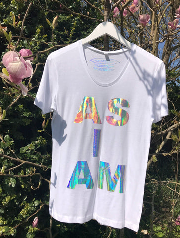 NON PROFIT HOLOGRAPHIC 'AS I AM' T-SHIRT