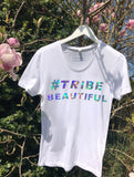 T-shirt - NON PROFIT HOLOGRAPHIC 'TRIBE BEAUTIFUL' T-SHIRT