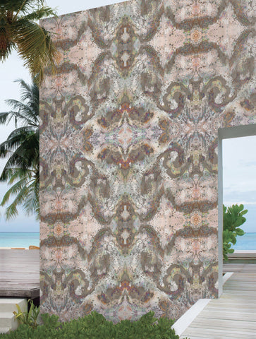 SONYA ROTHWELL SACRED GEOMETRY WALLPAPER : ROSE GOLD