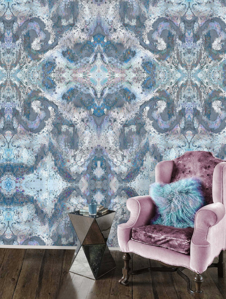 Wallpaper - SONYA ROTHWELL HOLOGRAPHIC UNIVERSE WALLPAPER : STEEL