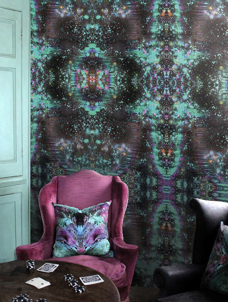 Wallpaper - SONYA ROTHWELL RAINBOW NAGA WALLPAPER : NOIR GREEN