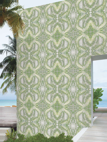 SONYA ROTHWELL VESICA WALLPAPER : LIME YELLOW