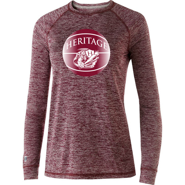 #102 Burgundy Basketball Long Sleeve
