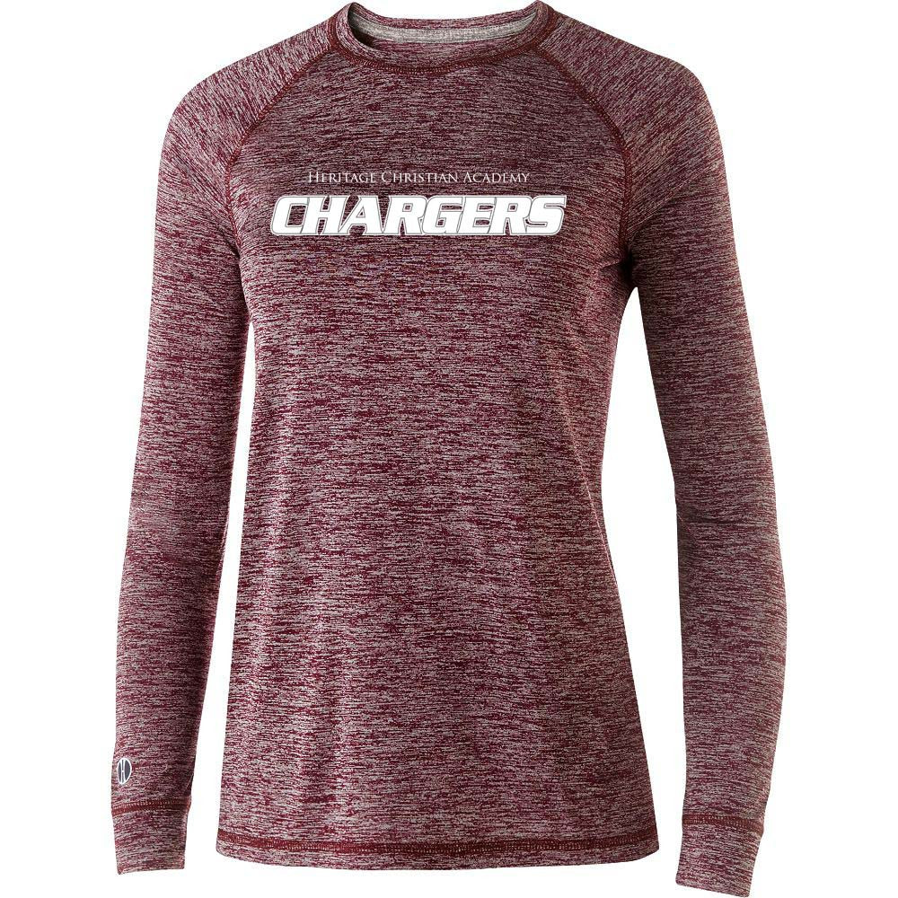 Burgundy and White Long Sleeve