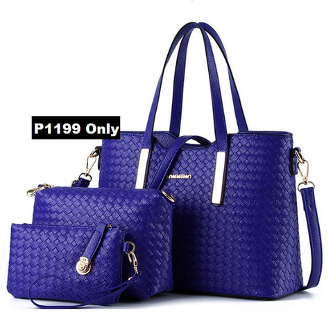 Set Of 3 Pcs Woven Bags