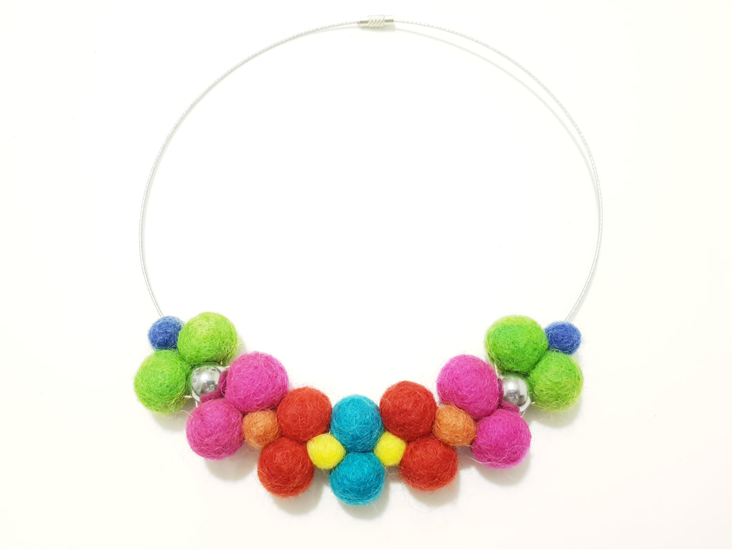 Bib collar necklace - Summer Brights