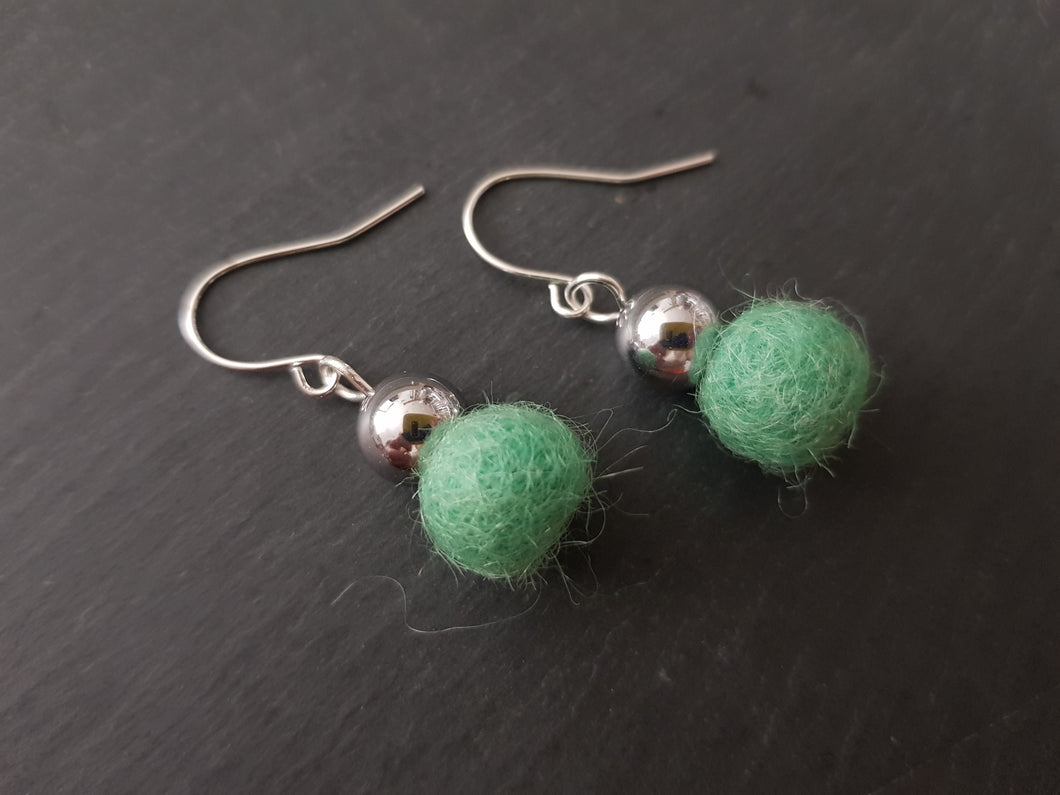 Hematite Wool drop Earrings - Other colours Available