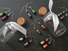 Rainbow Block Earrings