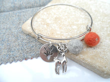 Sleek Reindeer Bangle - Burnt Orange