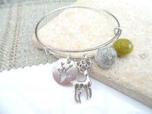 Sleek Reindeer Bangle - Olive