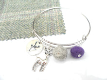 Sleek Reindeer Bangle - Purple