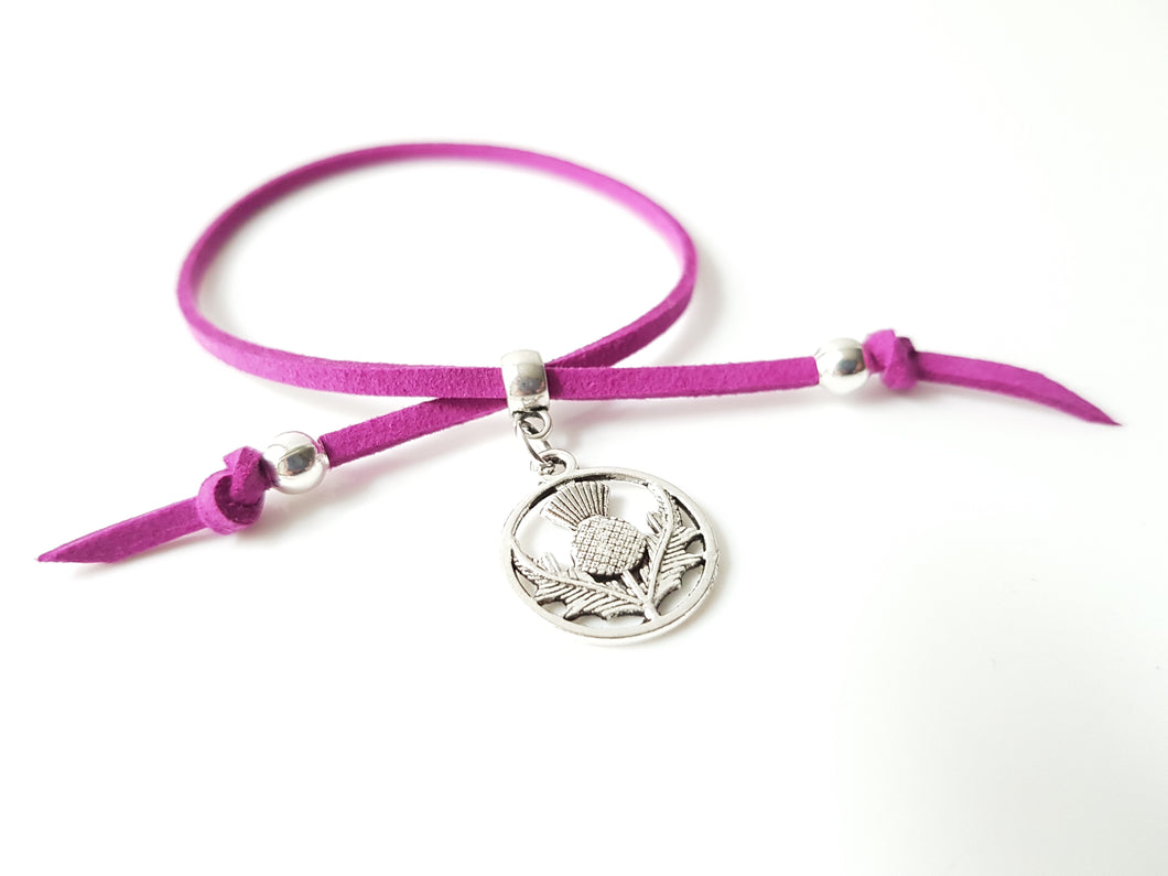 Scottish friendship Thistle bracelet - Violet