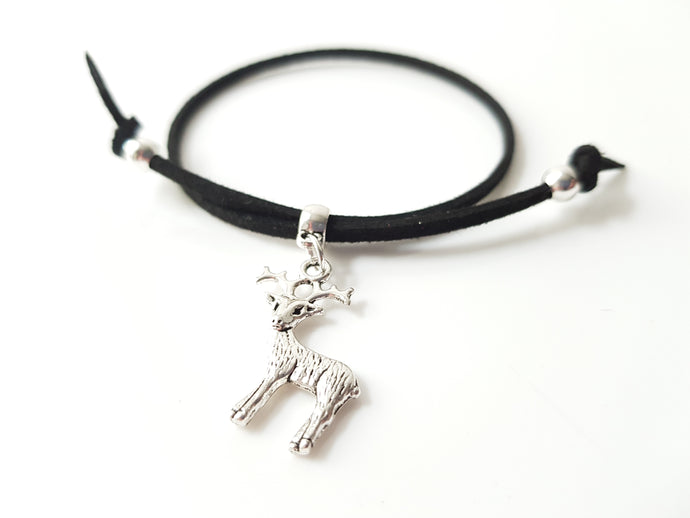 Scottish friendship Stag bracelet - Black