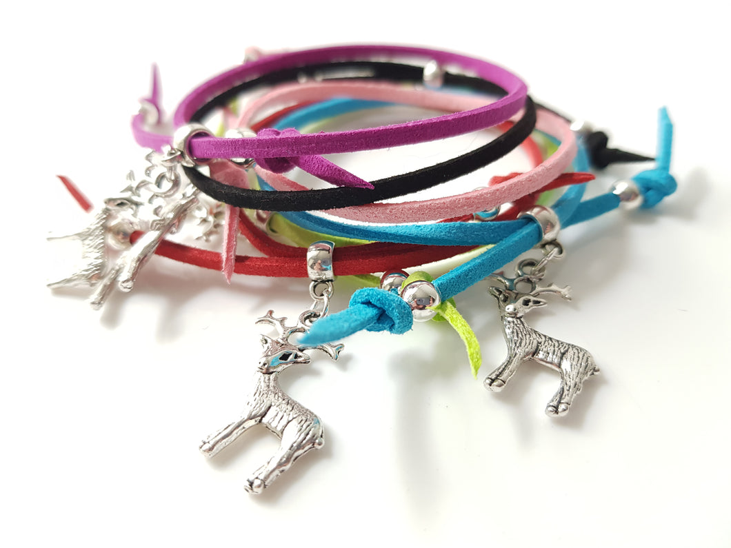 Scottish friendship Stag bracelets - Pack of 6 Assorted
