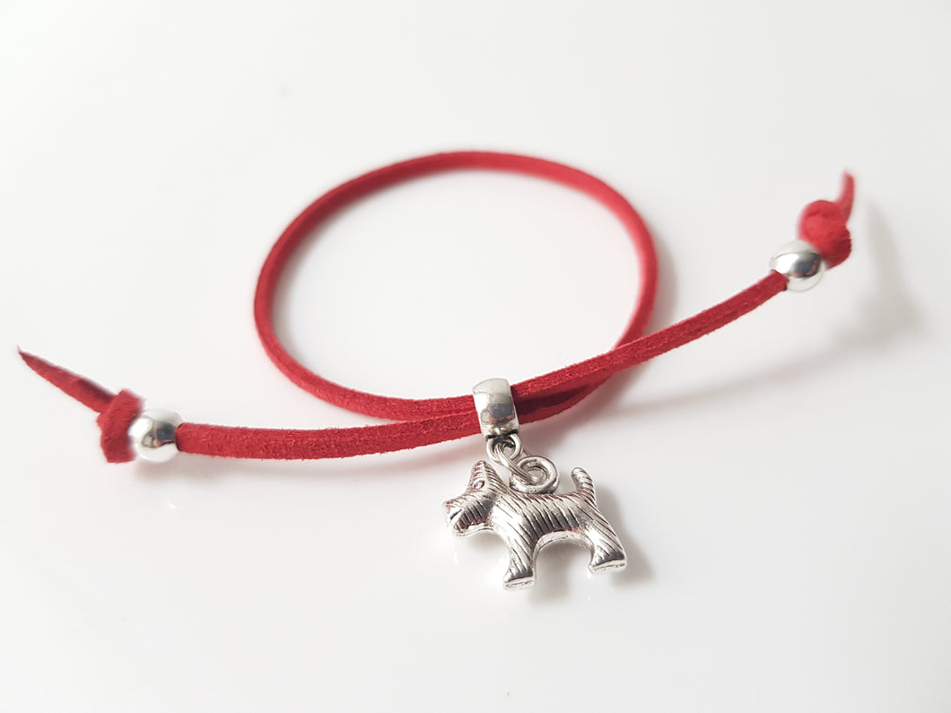Scottish friendship Scottie Dog bracelet - Red