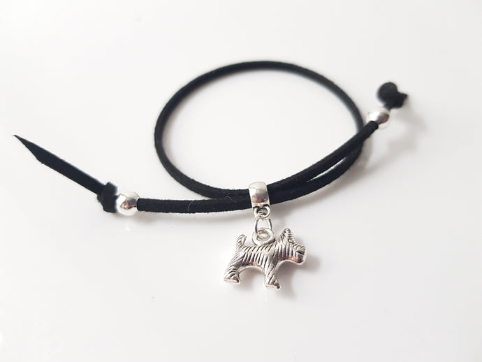 Scottish friendship Scottie Dog bracelet - Black