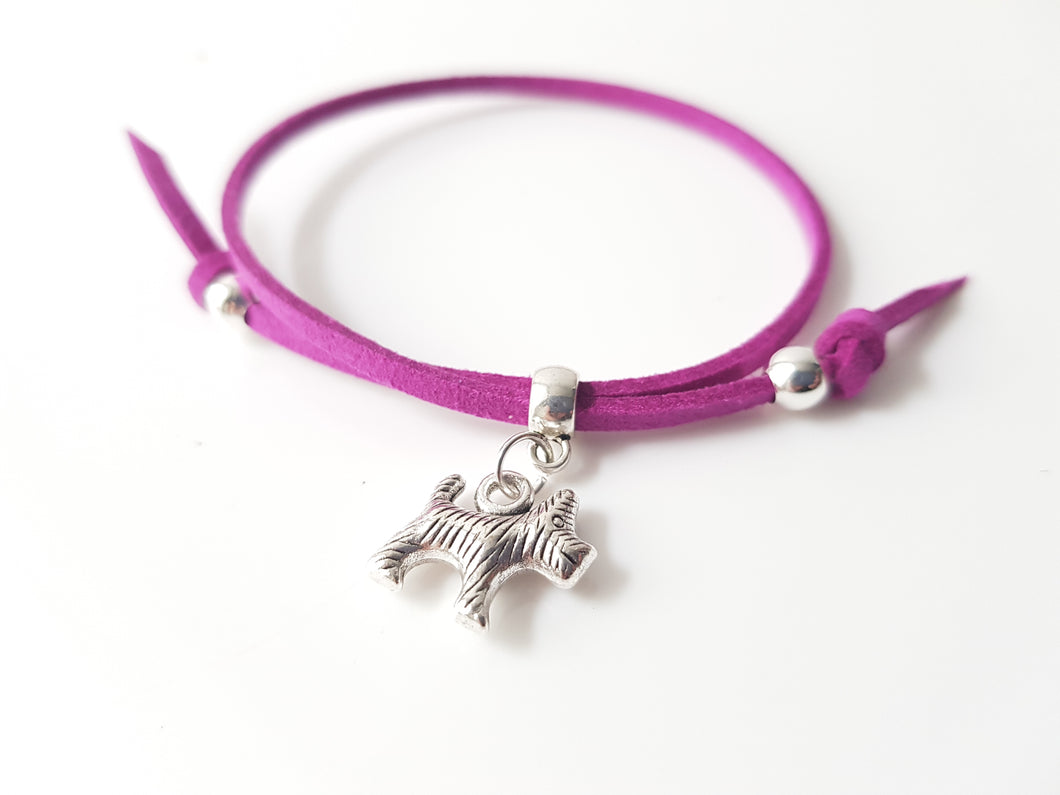 Scottish friendship Scottie dog bracelet - Violet