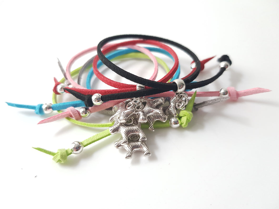Scottish friendship Scottie Dog bracelets - Pack of 6 Assorted