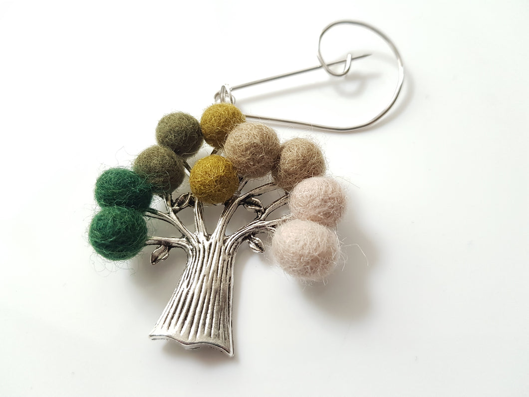 Tree Of Life - Brooch - Green