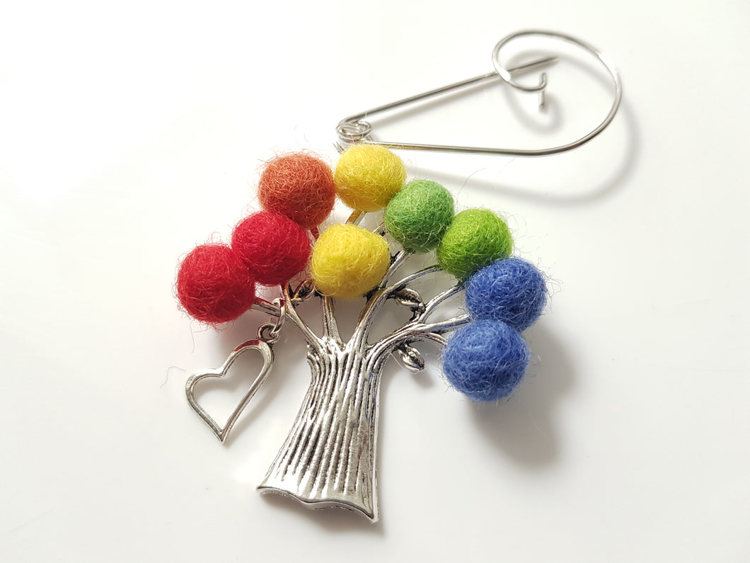 Tree Of Life - Brooch - Rainbow Love