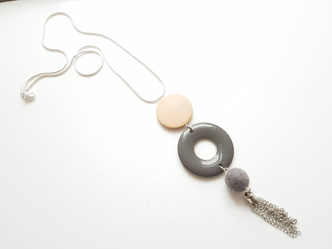 Opaque Acrylic Donut necklace - More colours available