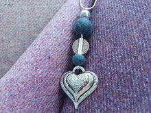 Heart Drop Pendant - Charcoal Grey