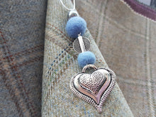 Heart Drop Pendant - French Blue