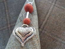 Heart Drop Pendant - Burnt Orange