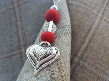 Heart Drop Pendant - Red